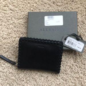 ALLSAINTS – Fleur De Lis Small Leather Wallet